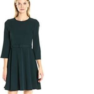 New Eliza J Womens Belted Fit & Flare Dress